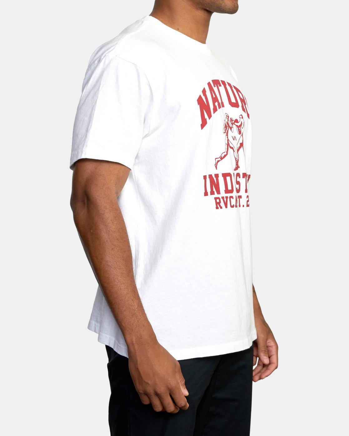 3 Boxing Alma Mater Short Sleeve Tee White AVYZT00520 RVCA