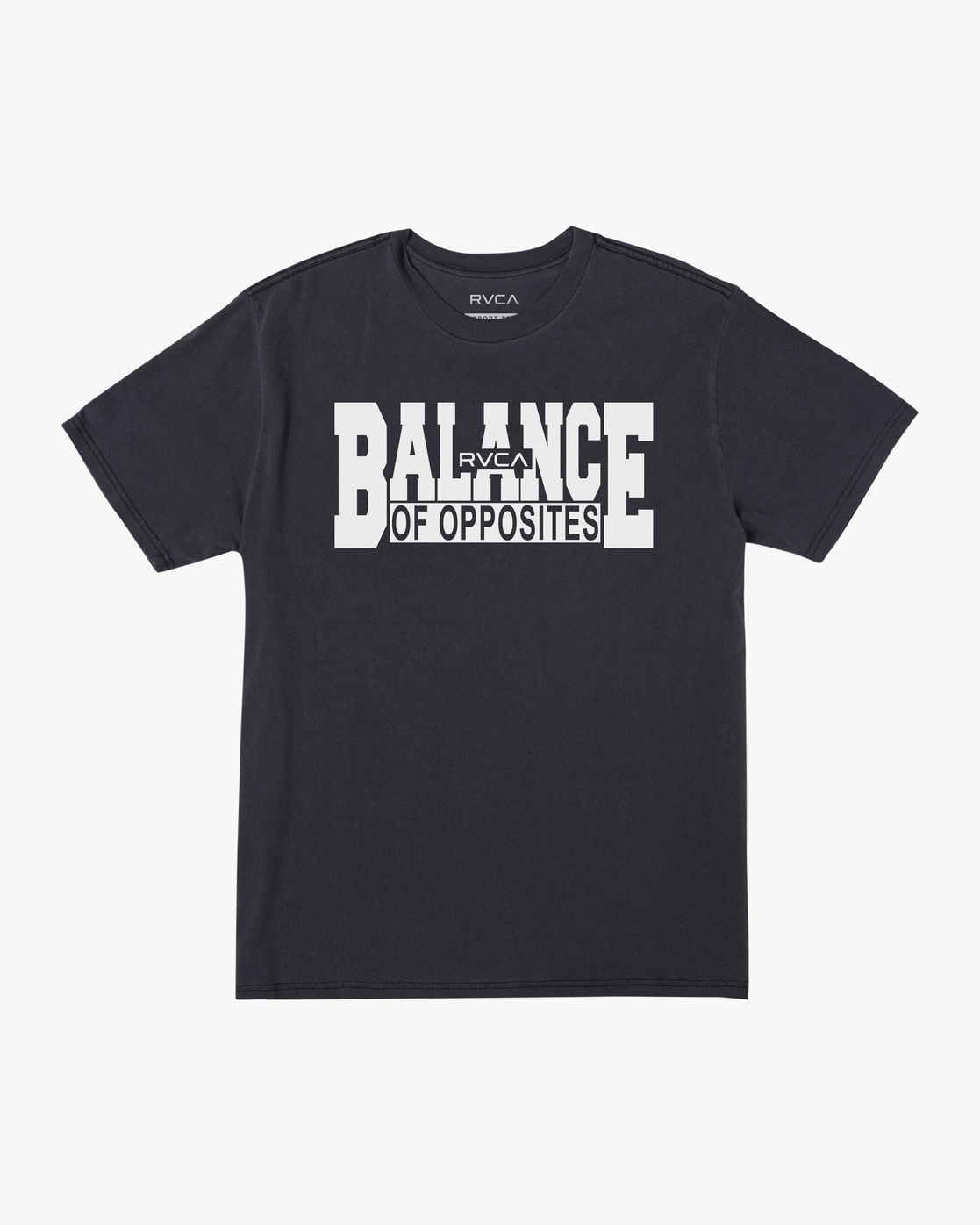 0 RVCA Balance Block Short Sleeve Tee Black AVYZT00521 RVCA