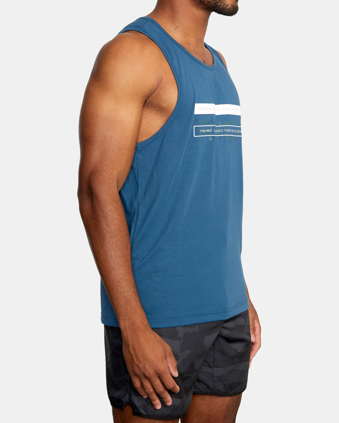 5 Two Bar Tank Top Blue AVYZT00525 RVCA