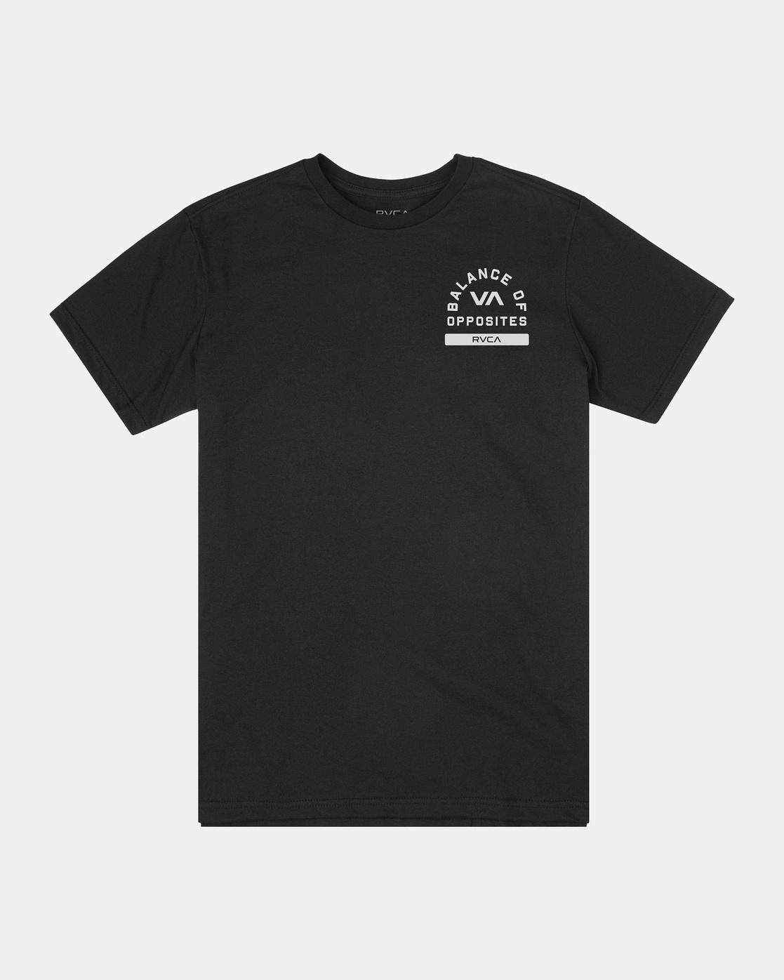 0 RVCA PE Short Sleeve Tee Black AVYZT00528 RVCA