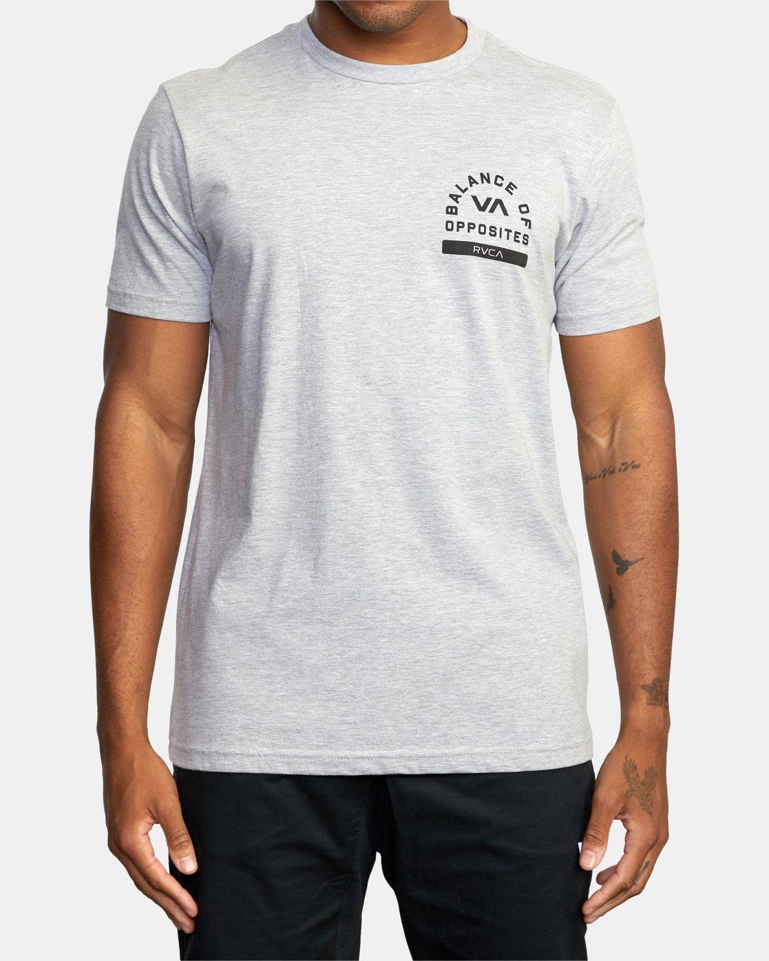 2 RVCA PE Short Sleeve Tee Grey AVYZT00528 RVCA