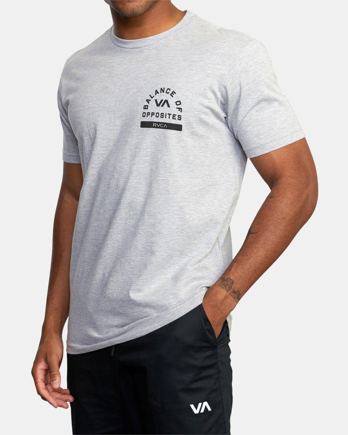 4 RVCA PE Short Sleeve Tee Grey AVYZT00528 RVCA