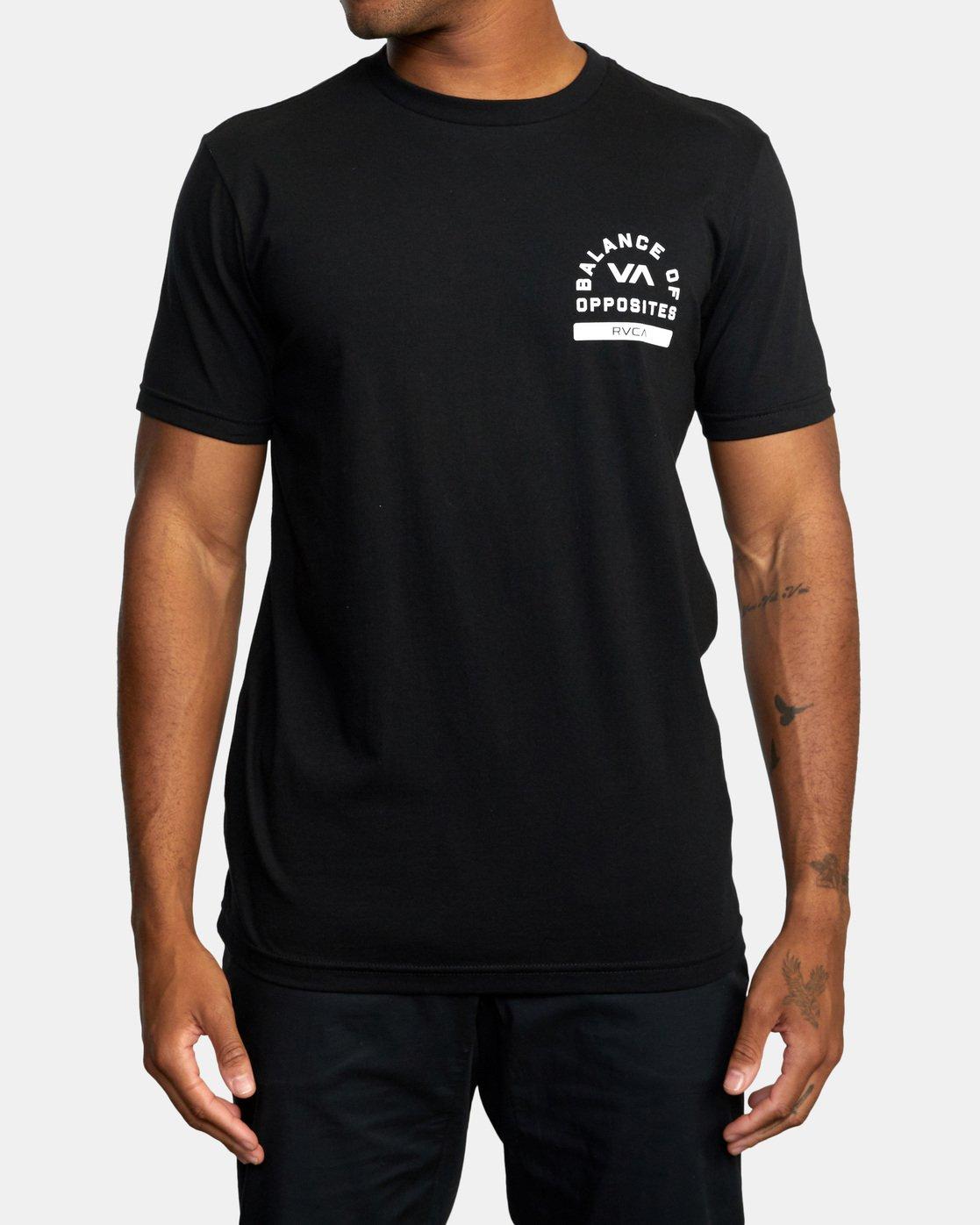 2 RVCA PE Short Sleeve Tee Black AVYZT00528 RVCA
