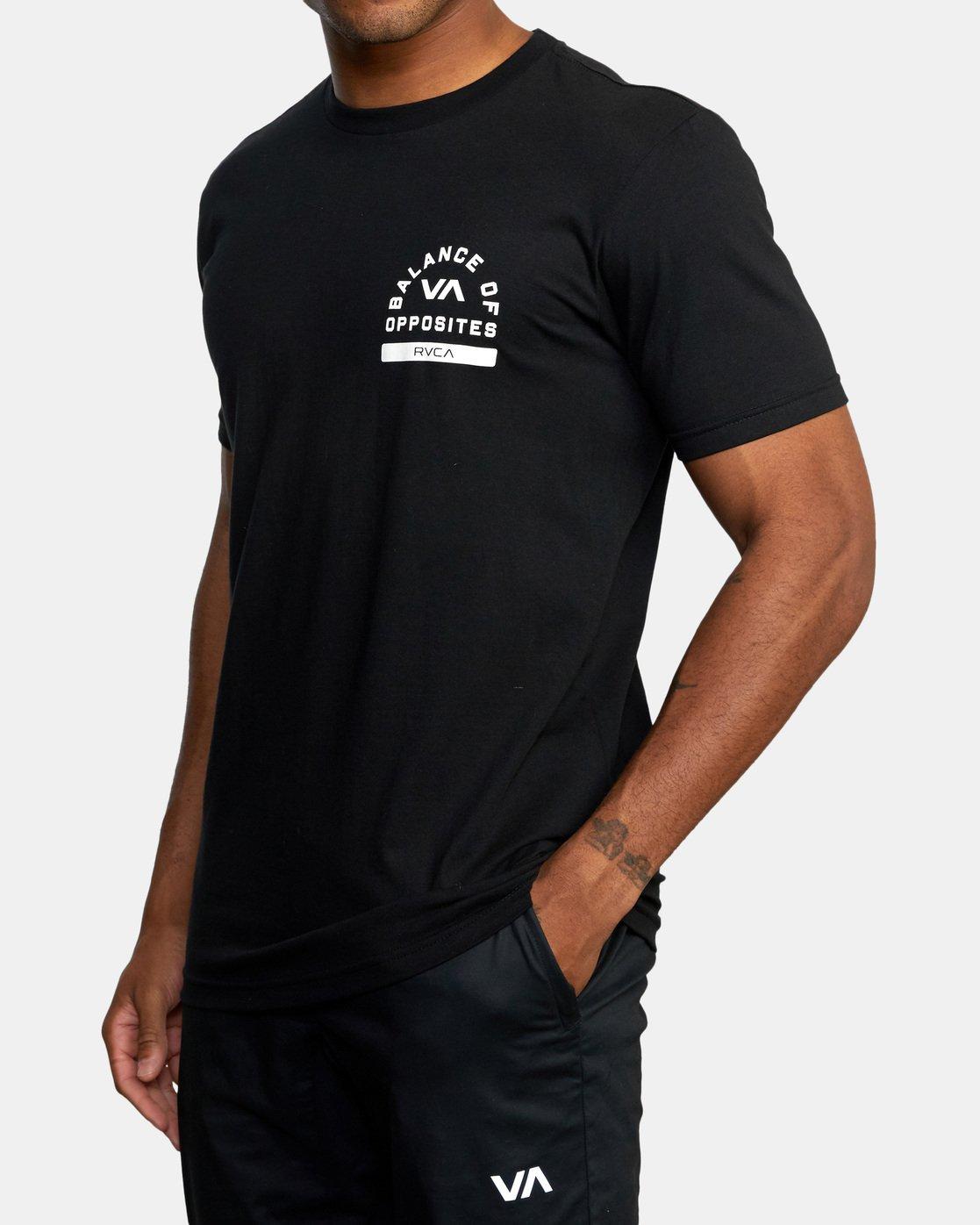 5 RVCA PE Short Sleeve Tee Black AVYZT00528 RVCA