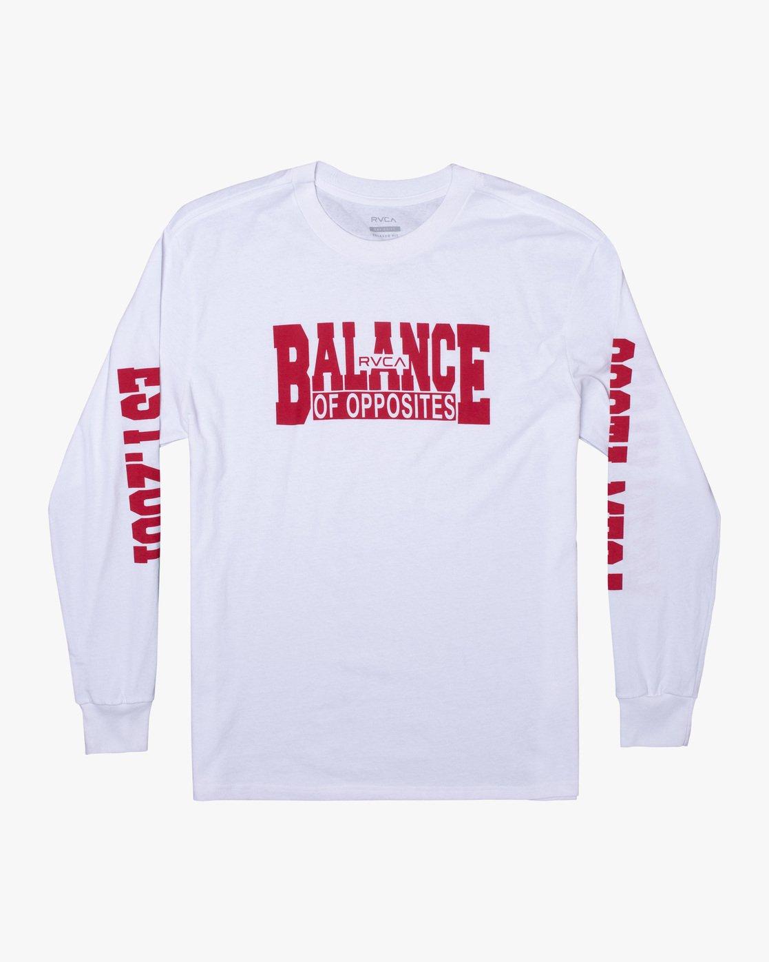 0 RVCA Balance Block Long Sleeve Tee White AVYZT00529 RVCA