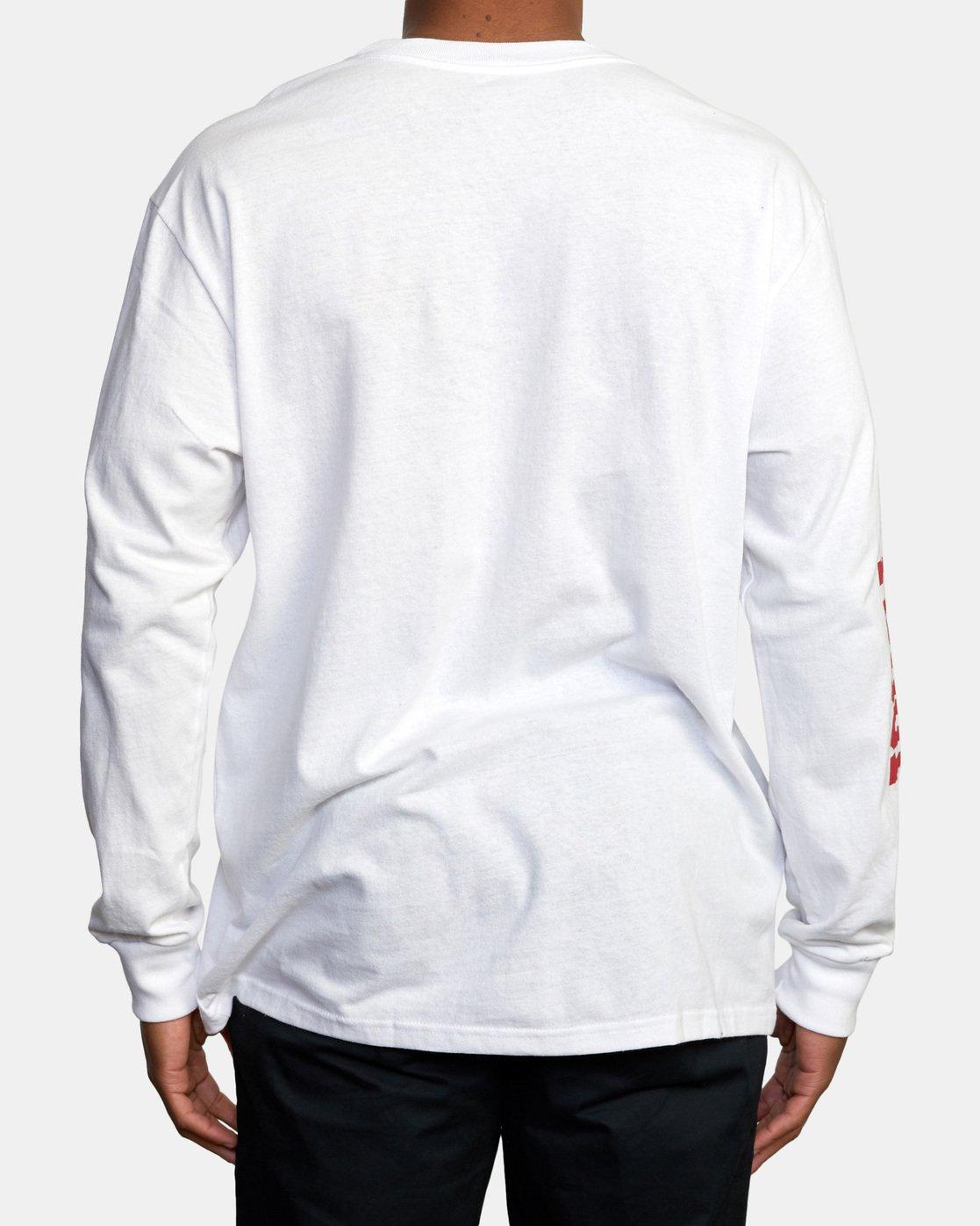 2 RVCA Balance Block Long Sleeve Tee White AVYZT00529 RVCA