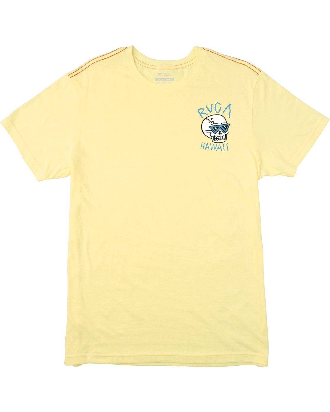 0 Skull Bow Short Sleeve Tee Yellow AVYZT00539 RVCA