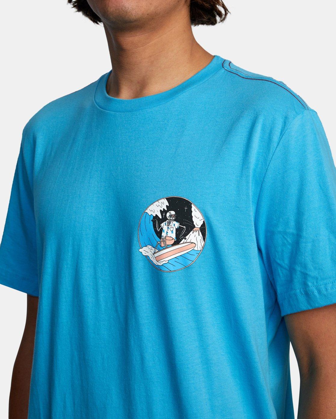 6 Skull Shred Short Sleeve Tee Brown AVYZT00540 RVCA