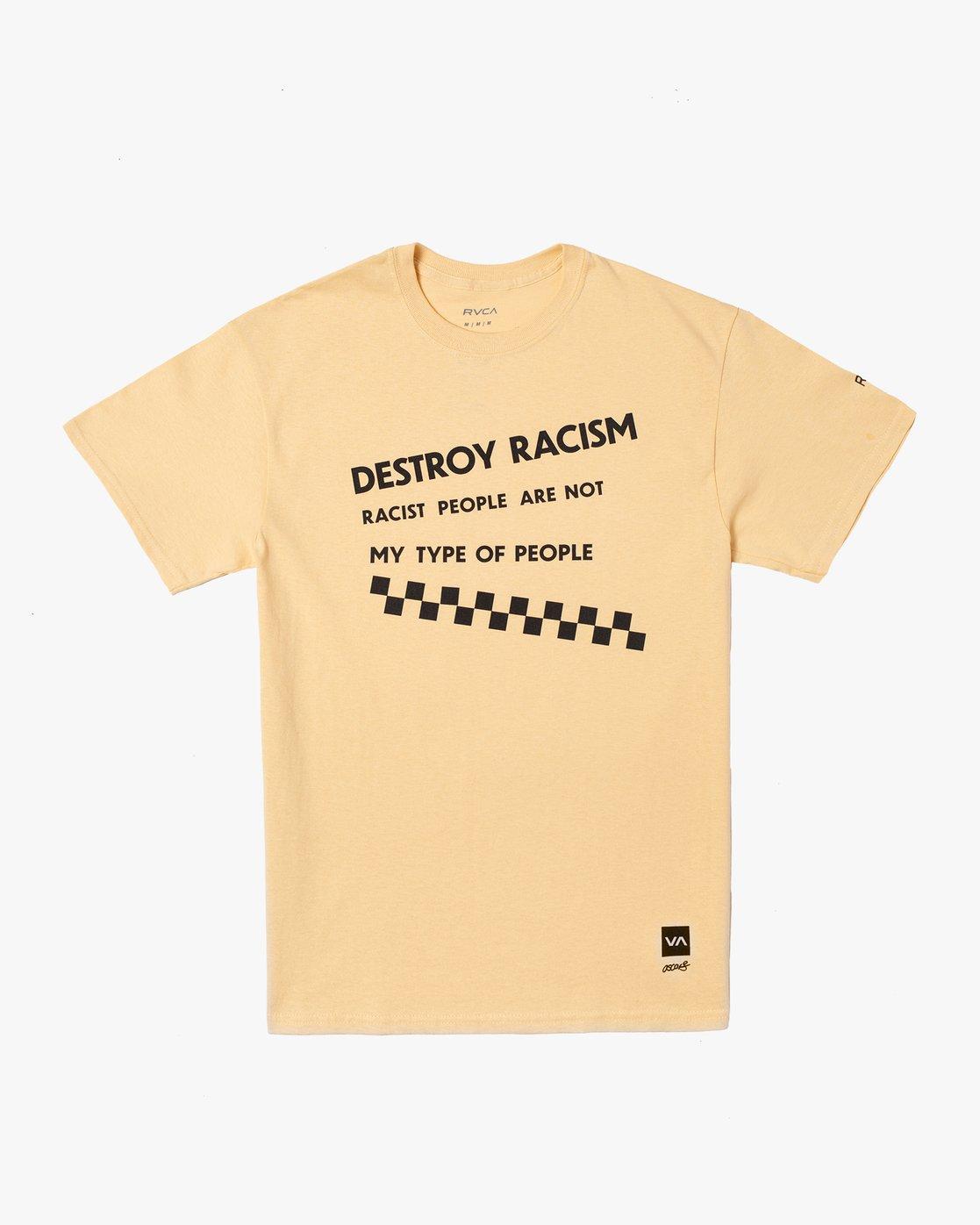 0 DESTROY RACISM TEE White AVYZT00547 RVCA