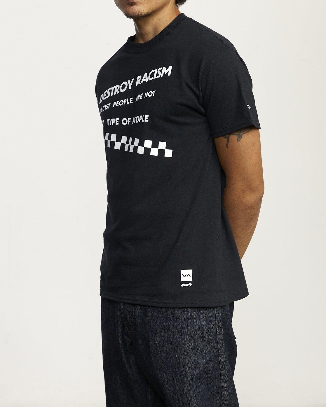 2 DESTROY RACISM TEE Black AVYZT00547 RVCA