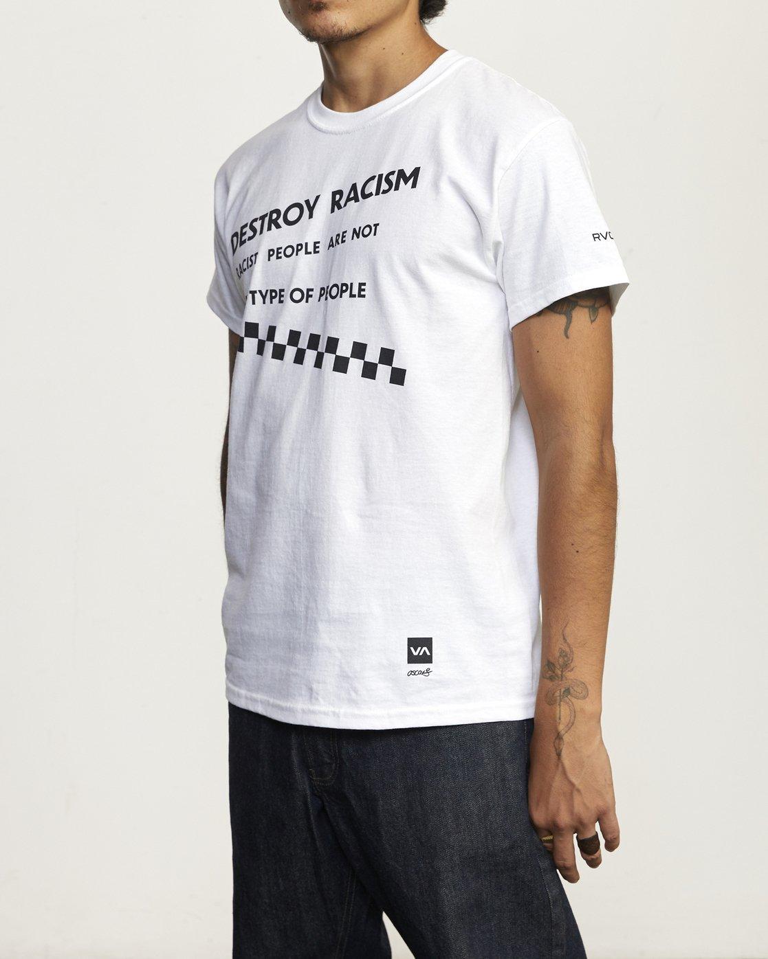 2 DESTROY RACISM TEE White AVYZT00547 RVCA