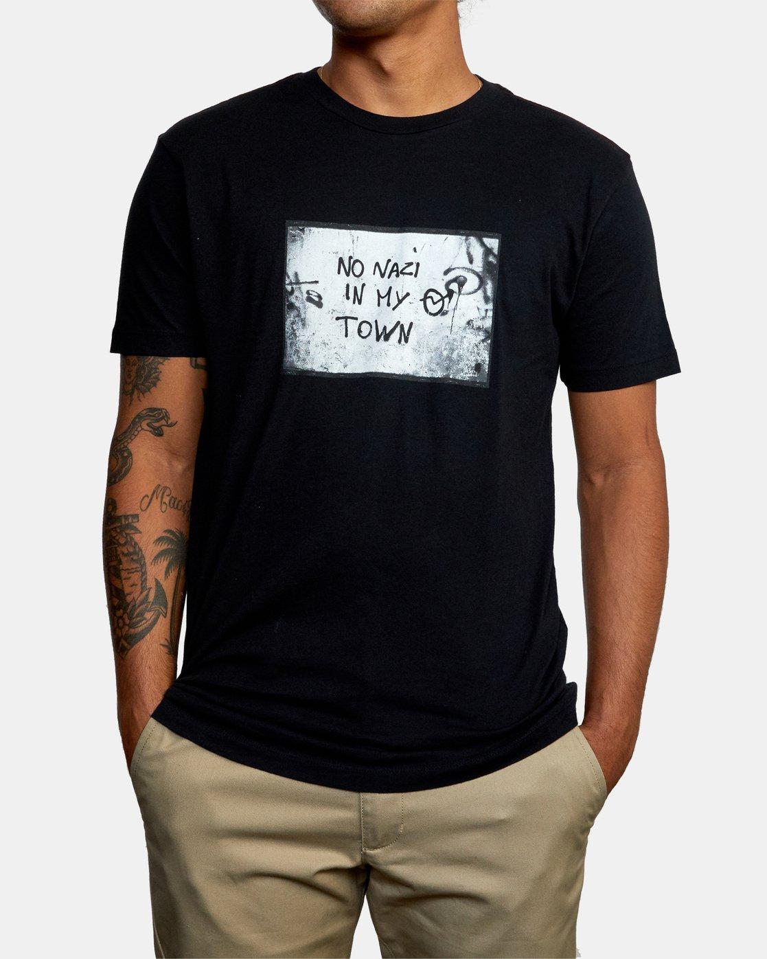 0 MY TOWN  X DEANNA TEMPLETON SHORT SLEEVE TEE Black AVYZT00687 RVCA