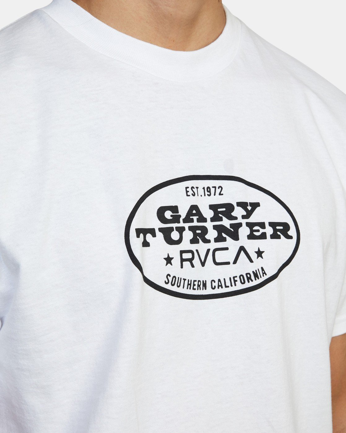4 Gary Turner Short Sleeve T-Shirt White AVYZT00692 RVCA