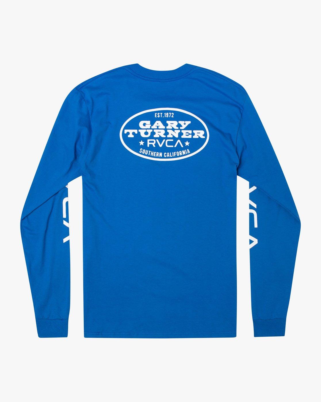 1 Gary Turner Long Sleeve T-Shirt Blue AVYZT00693 RVCA