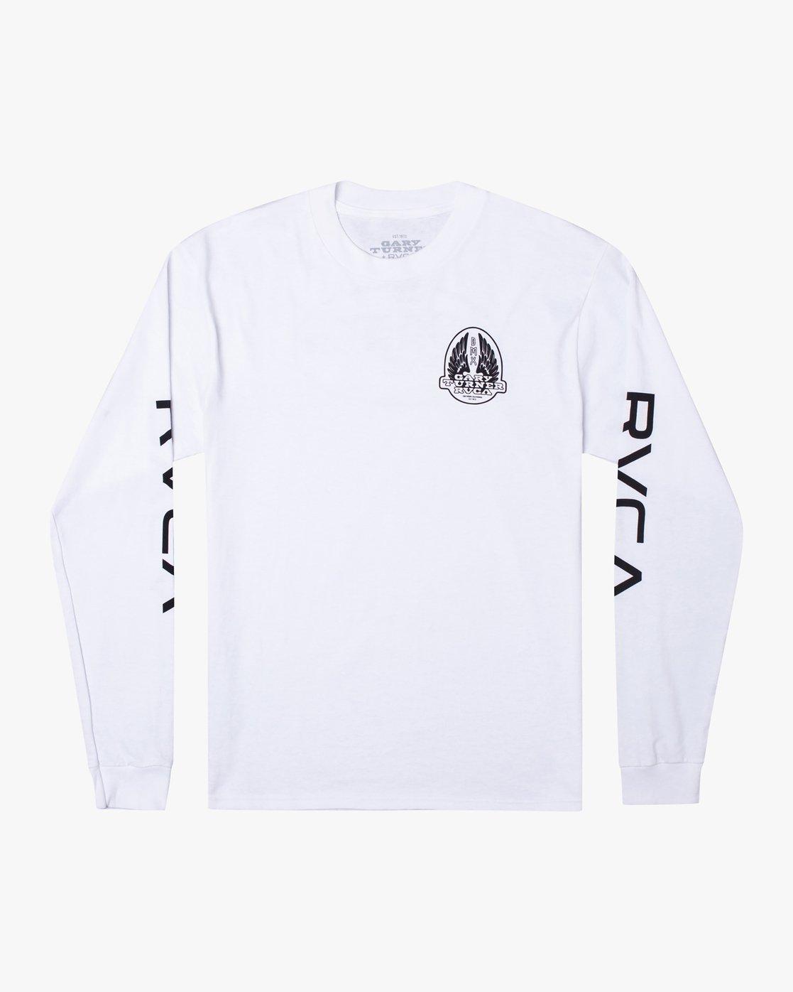 0 Gary Turner Long Sleeve T-Shirt White AVYZT00693 RVCA