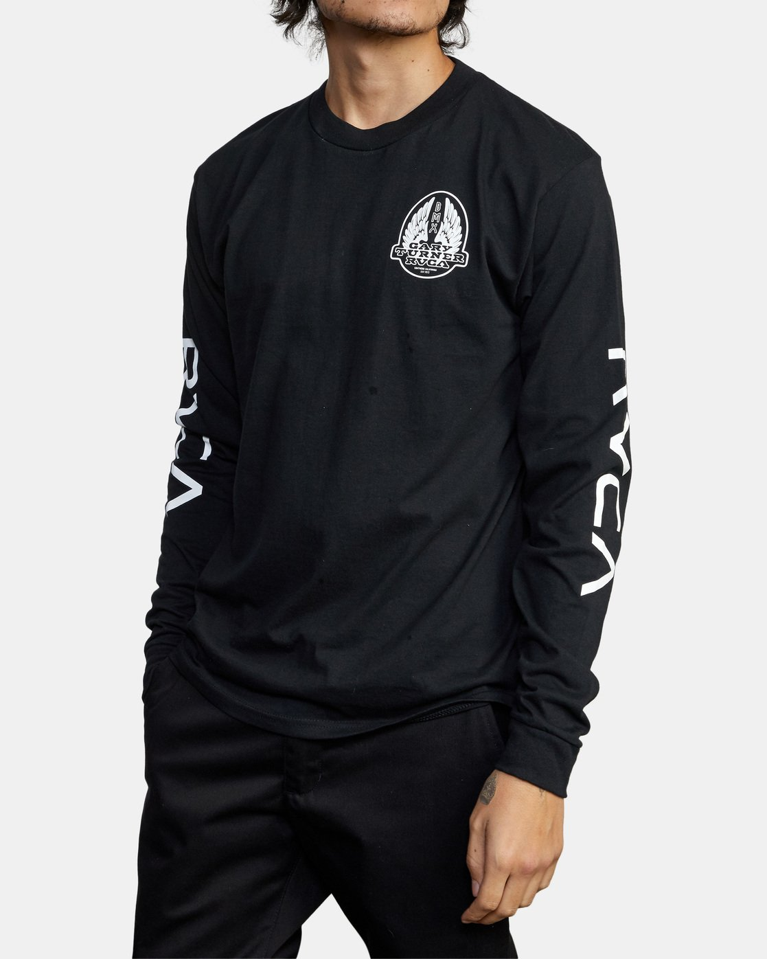 5 Gary Turner Long Sleeve T-Shirt Black AVYZT00693 RVCA