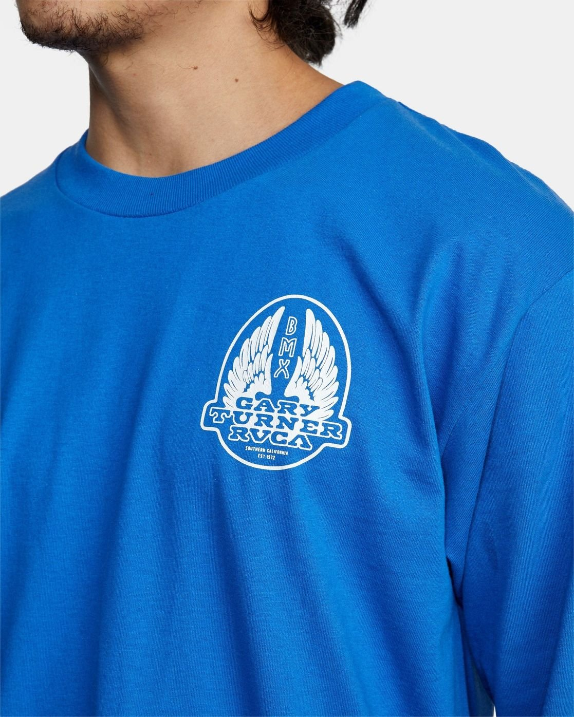 4 Gary Turner Long Sleeve T-Shirt Blue AVYZT00693 RVCA