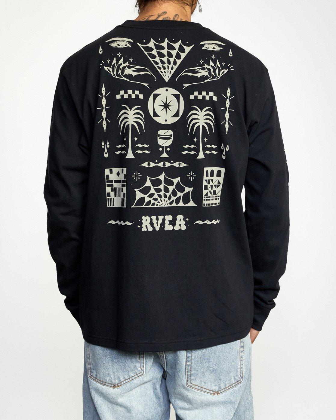 1 Jesse Brown Long Sleeve T-Shirt Black AVYZT00767 RVCA