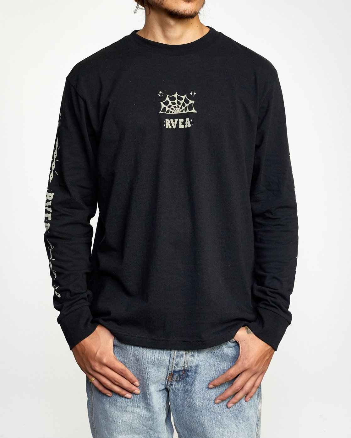 0 Jesse Brown Long Sleeve T-Shirt Black AVYZT00767 RVCA