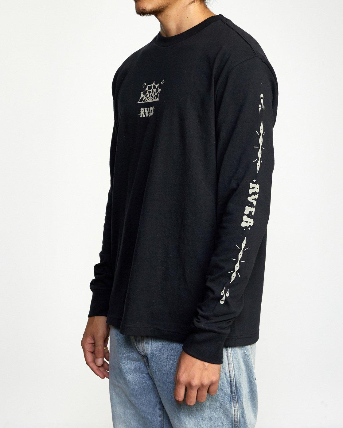 2 Jesse Brown Long Sleeve T-Shirt Black AVYZT00767 RVCA