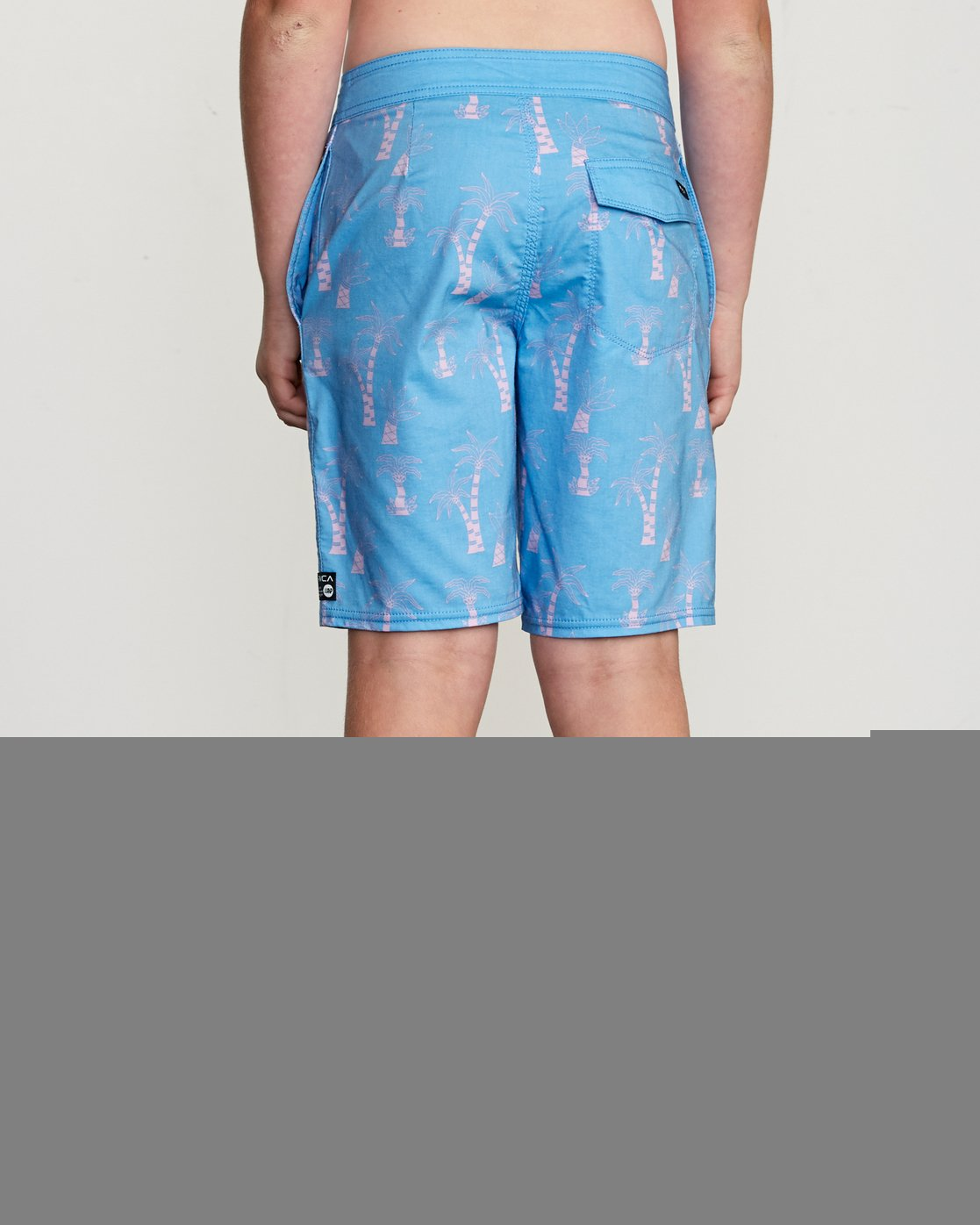 "4 Boy's KLW Palms 17"" Trunk Blue B101URKP RVCA"