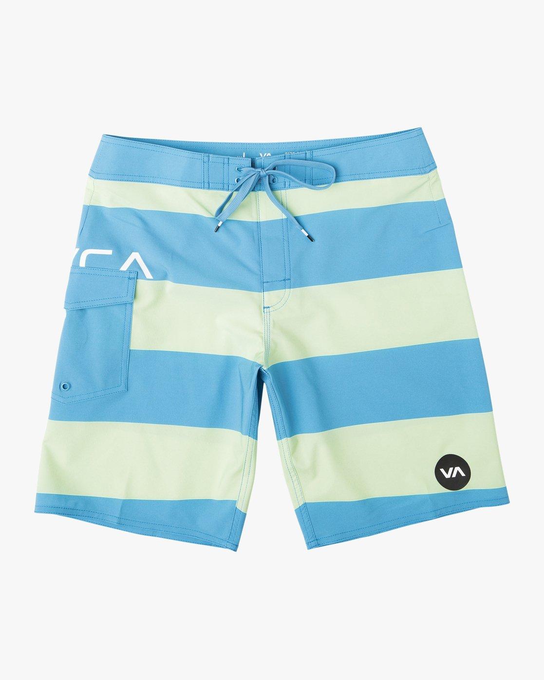 0 Boy's Uncivil Stripe Trunk Blue B103NRUN RVCA