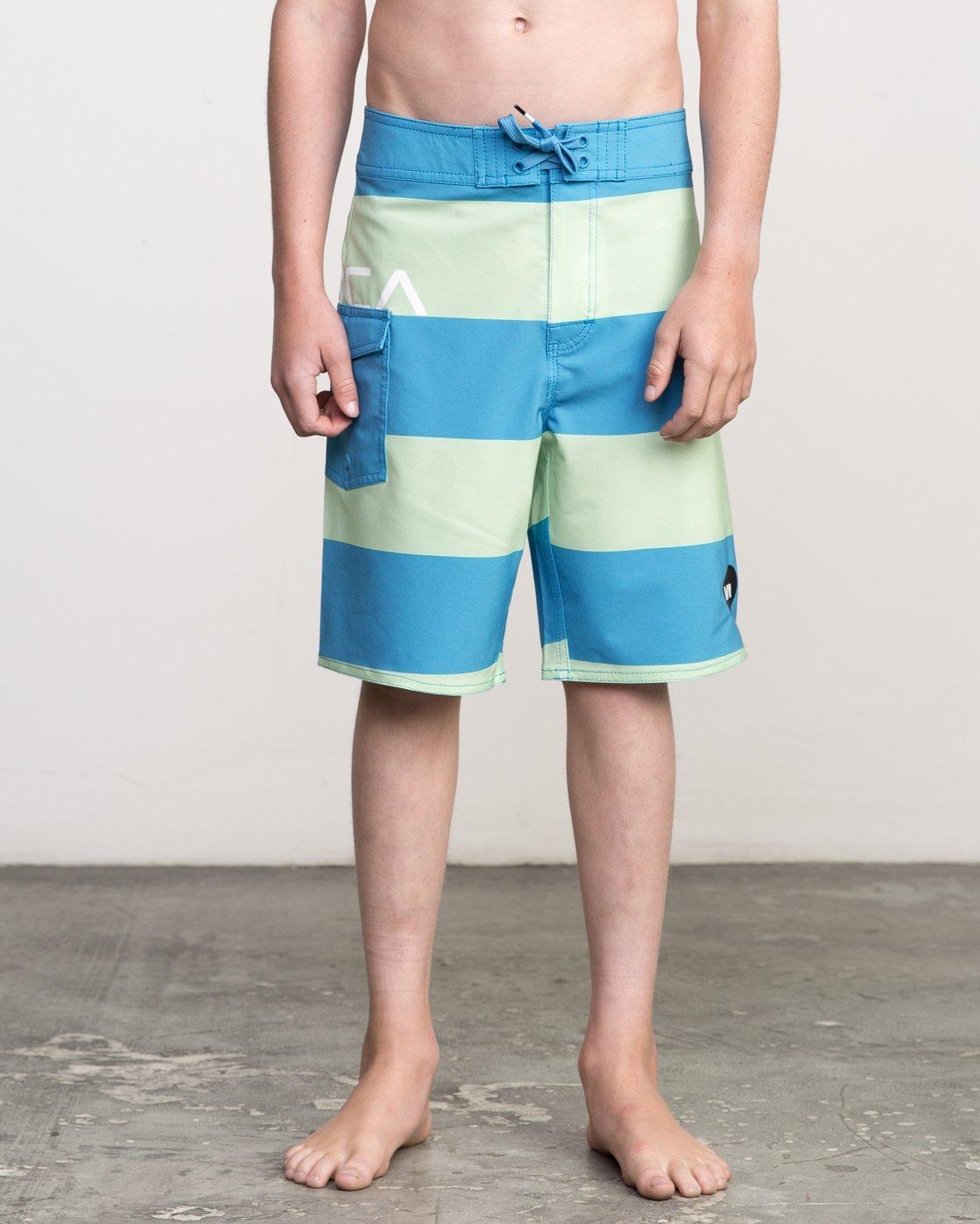 1 Boy's Uncivil Stripe Trunk Blue B103NRUN RVCA