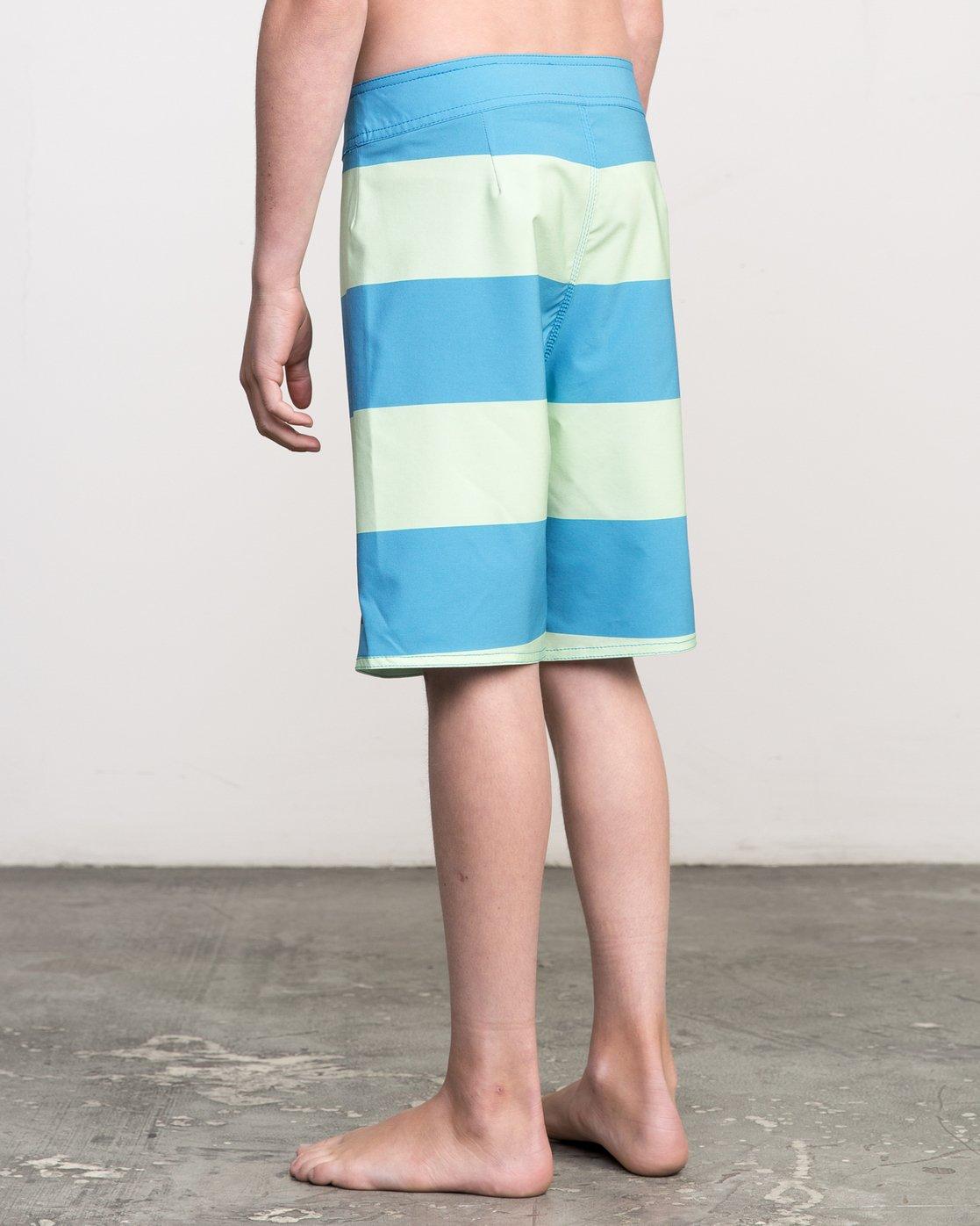 3 Boy's Uncivil Stripe Trunk Blue B103NRUN RVCA