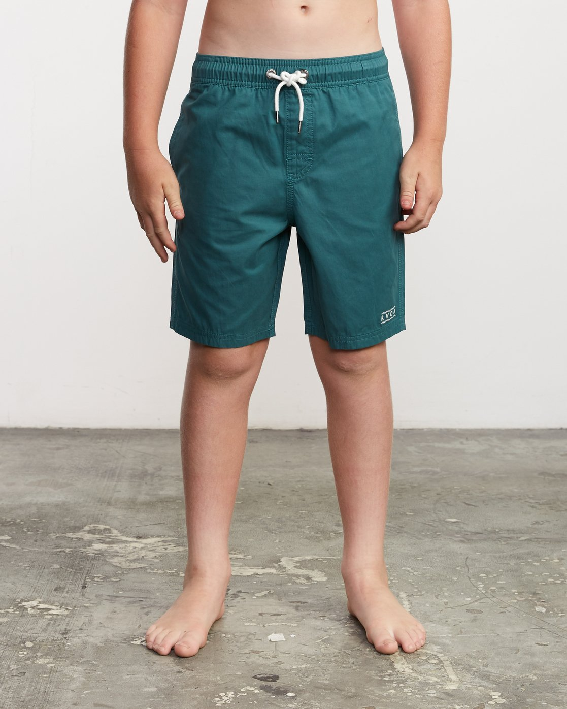 "1 Boy's Tom Gerrard Elastic 16"" Trunk Green B103URGE RVCA"