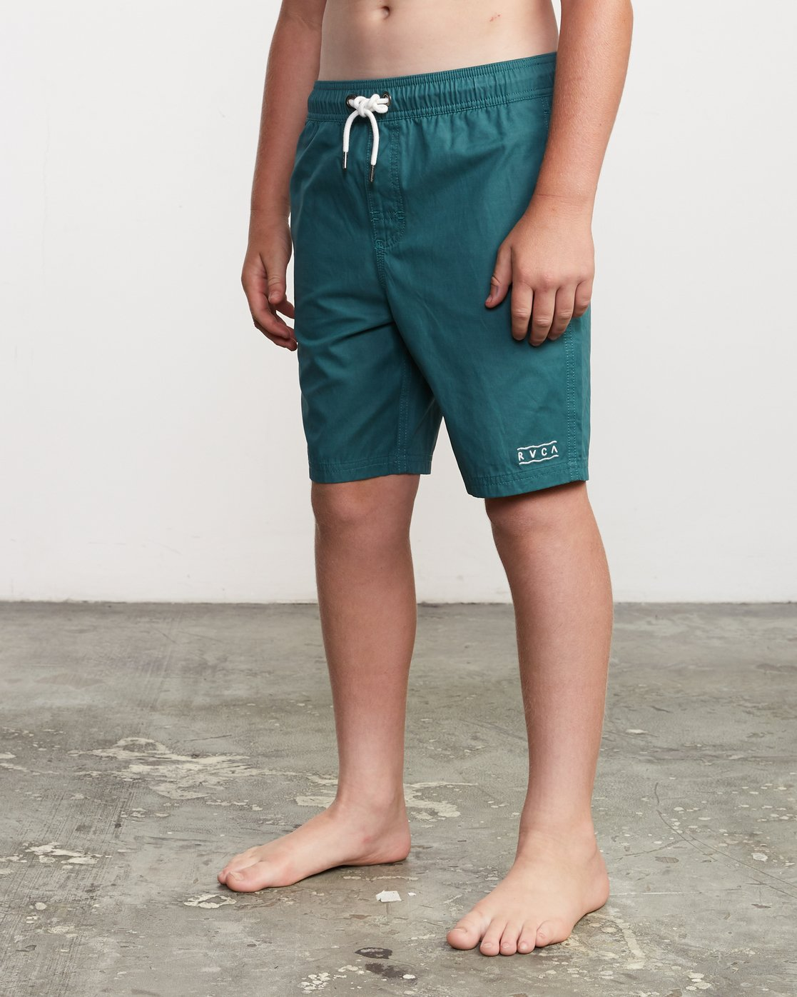 "2 Boy's Tom Gerrard Elastic 16"" Trunk Green B103URGE RVCA"