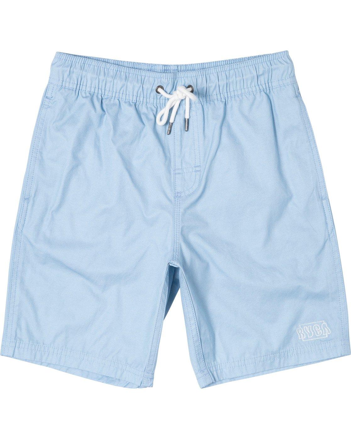 "0 BOYS OPPOSITES ELASTIC SHORT 16"" Blue B1051ROE RVCA"