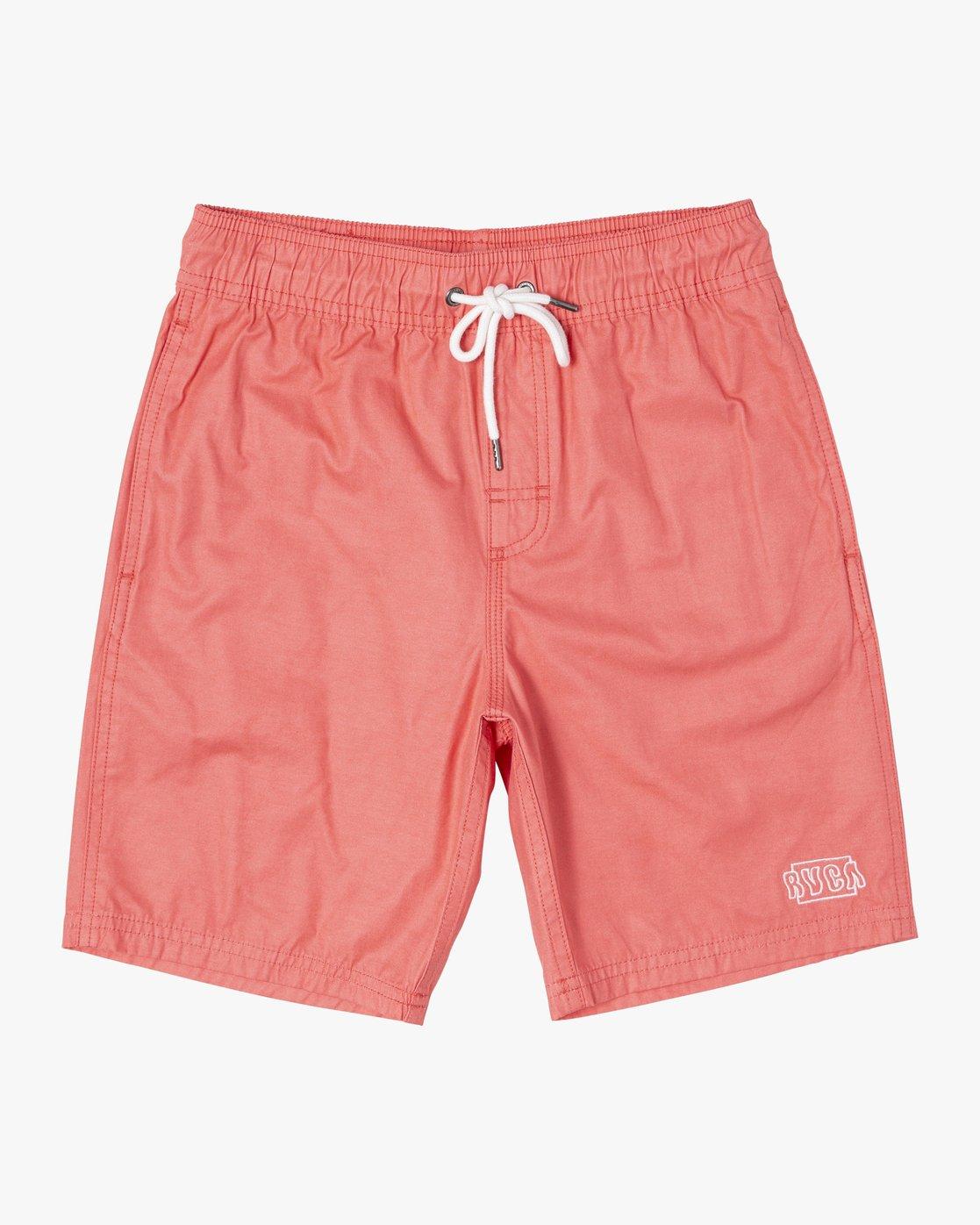 1 Boys OPPOSITES ELASTIC SHORT Pink B1051ROE RVCA