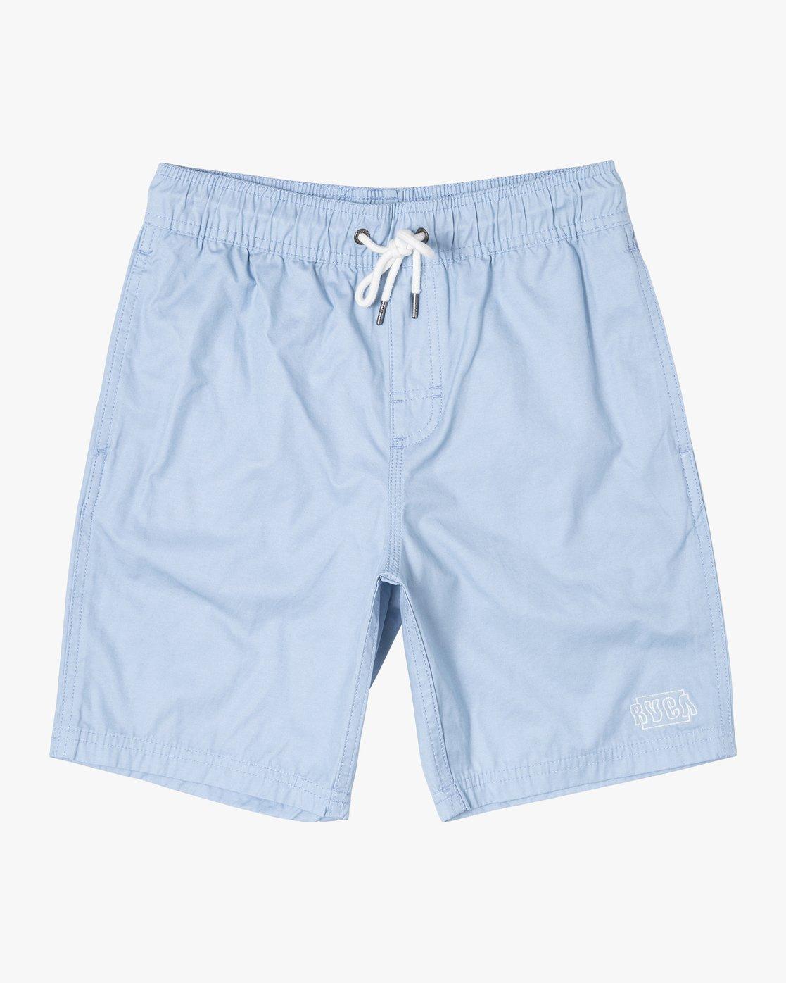 1 Boys OPPOSITES ELASTIC SHORT Blue B1051ROE RVCA