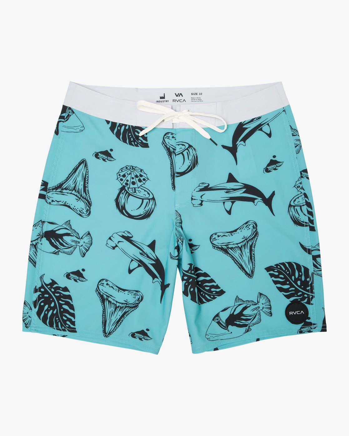0 Boy's VA Printed Trunk Blue B155TRVA RVCA