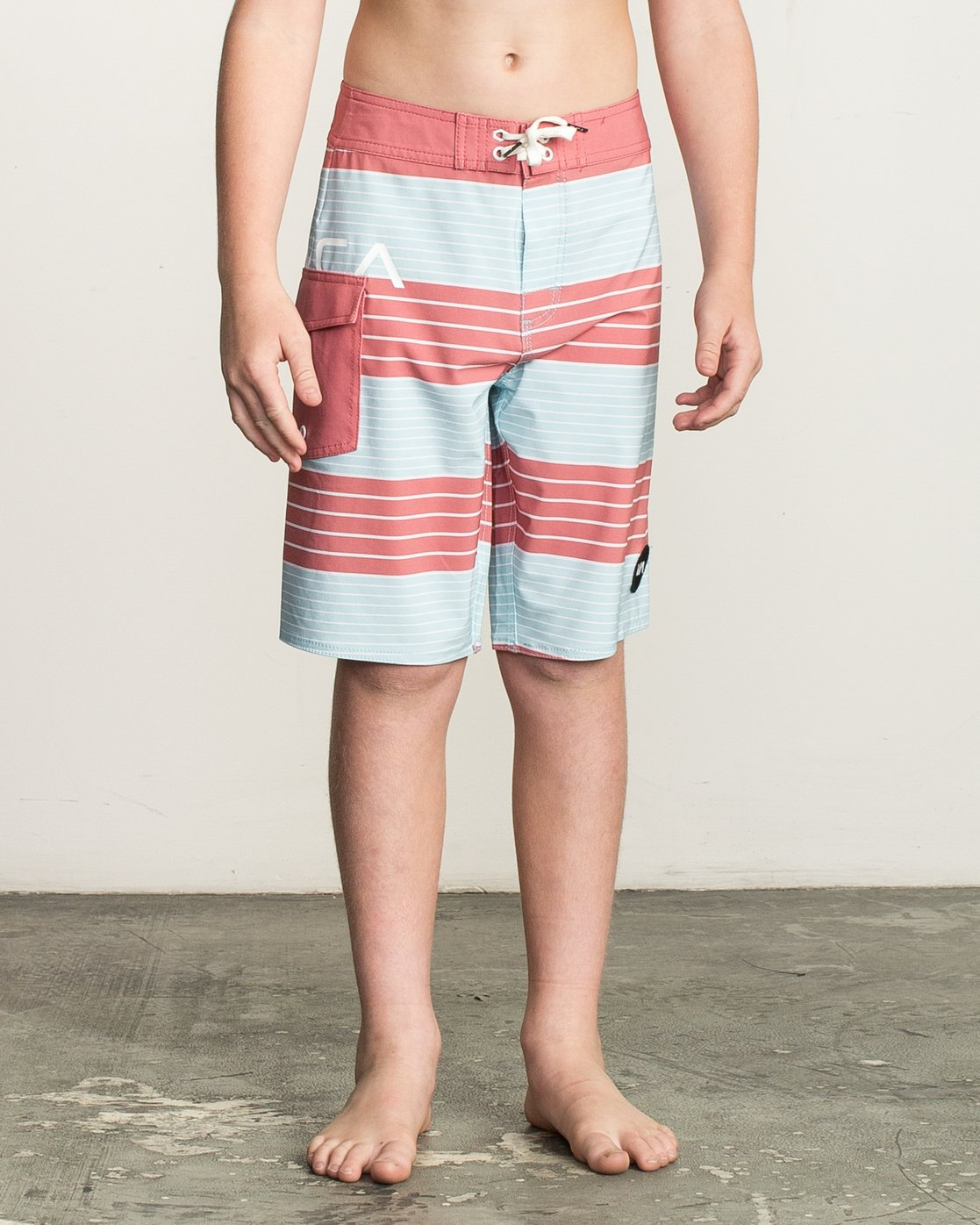 1 Boy's Uncivil Stripe Trunk Brown B162TRUN RVCA