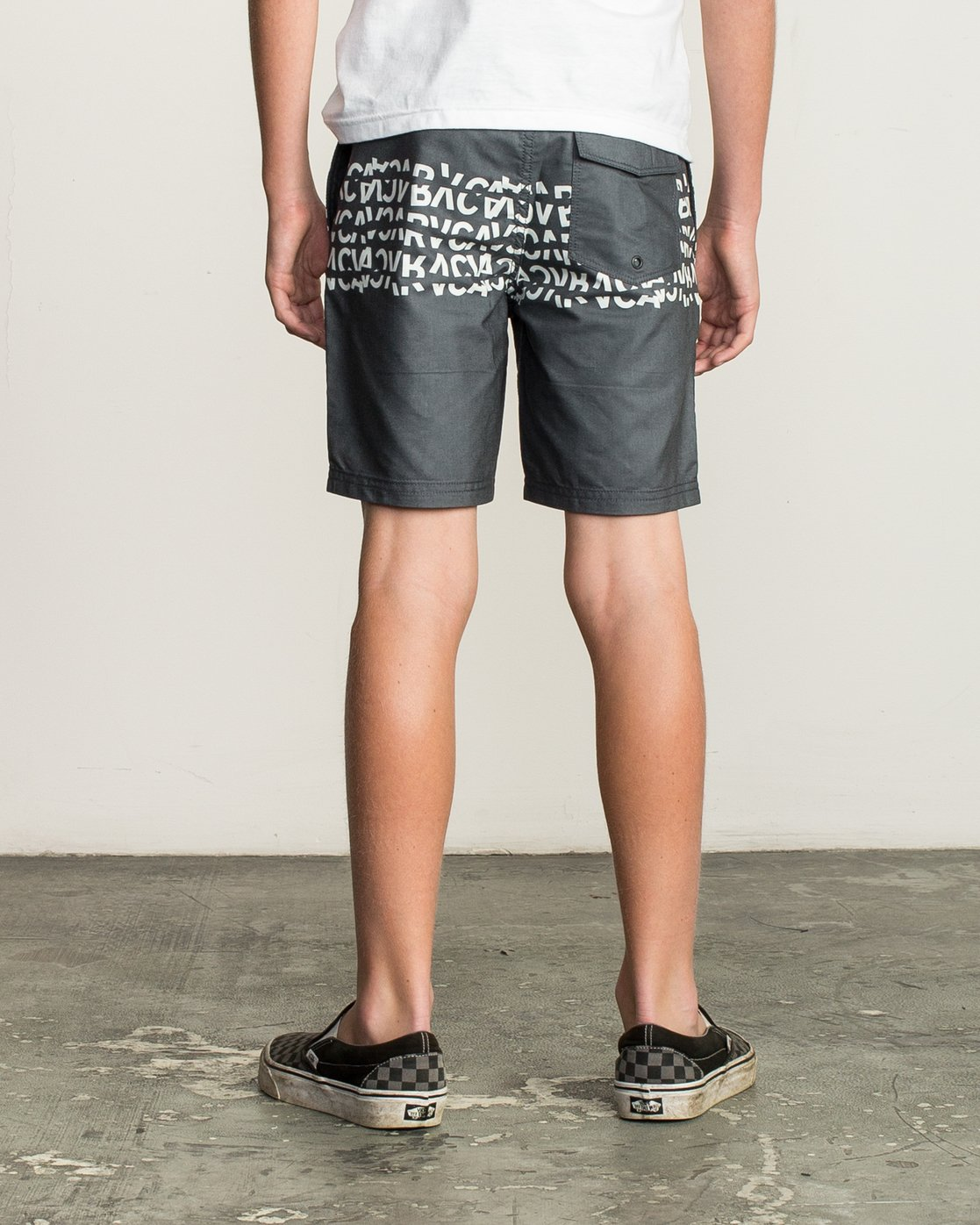 4 Boy's Shattered Elastic Trunk Black B169TRSH RVCA
