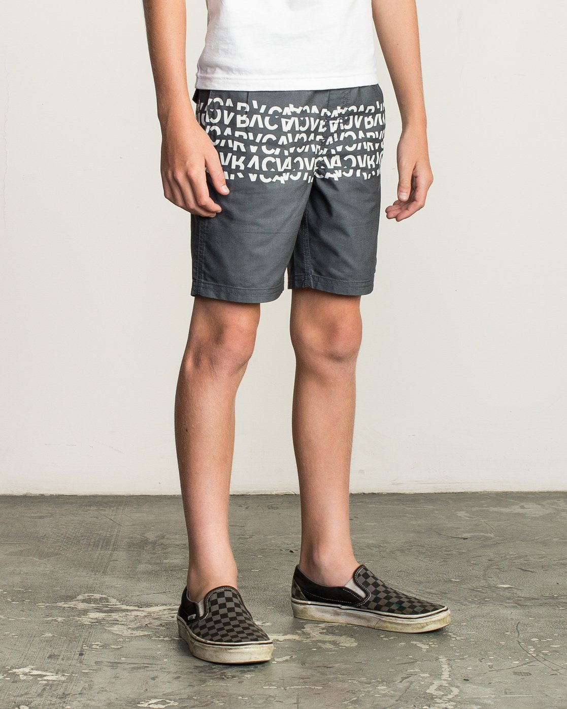 6 Boy's Shattered Elastic Trunk Black B169TRSH RVCA