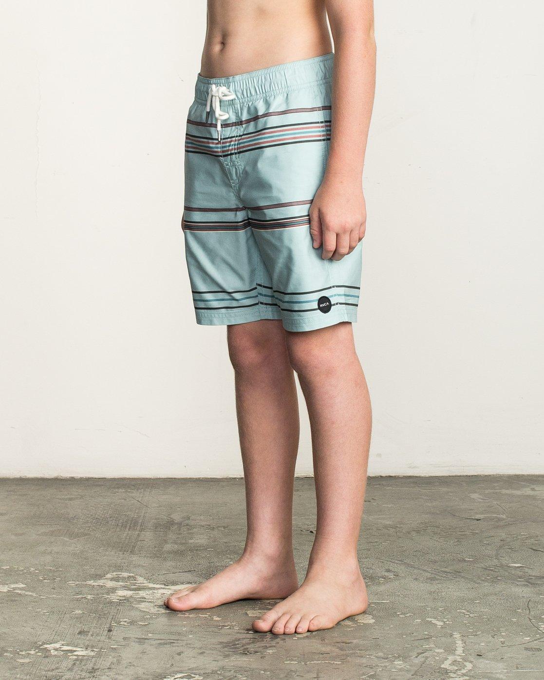 2 Boy's Shattered Elastic Trunk Blue B169TRSH RVCA