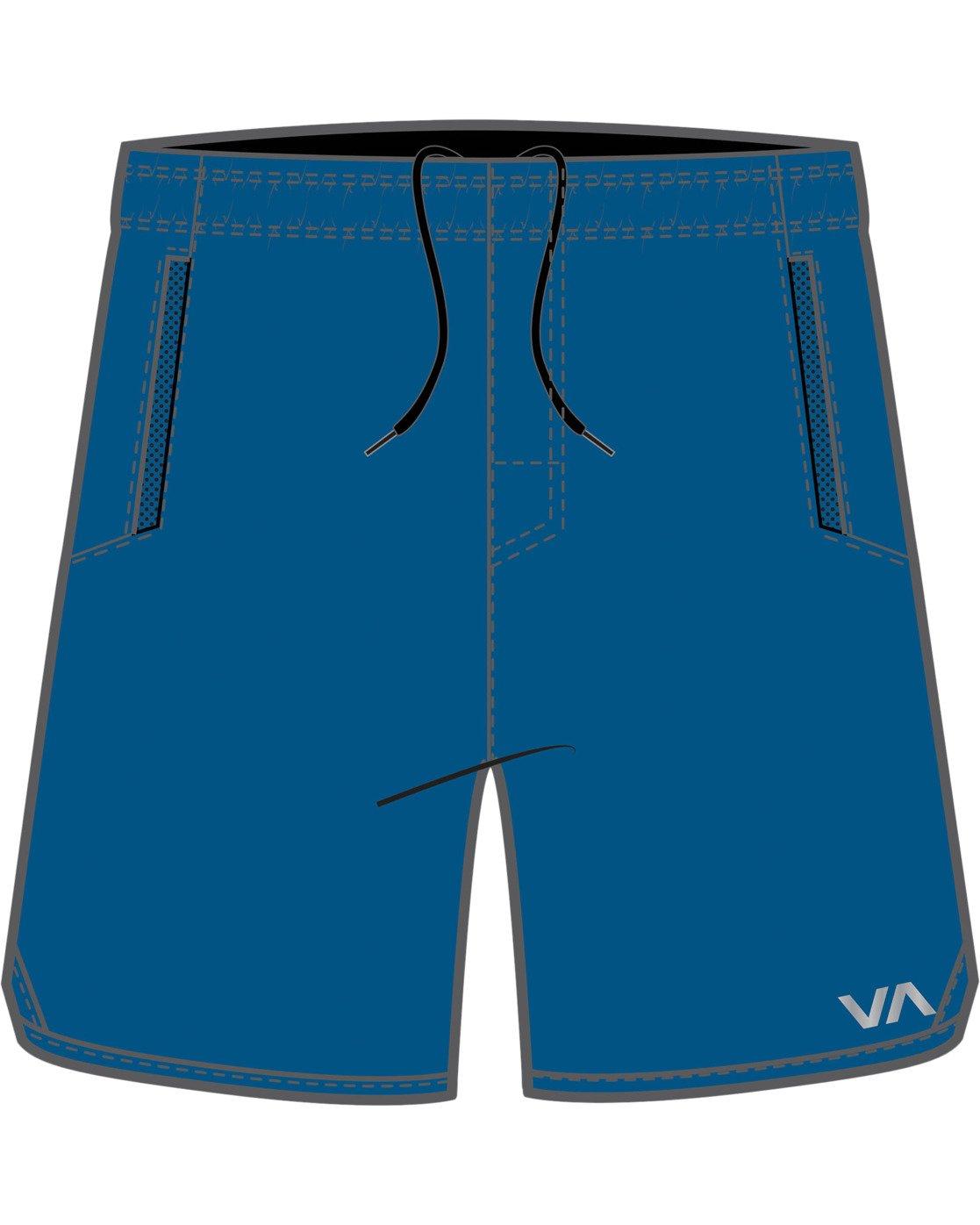 """0 BOYS YOGGER STRETCH SHORT 15"""" Blue B2012RYS RVCA"""