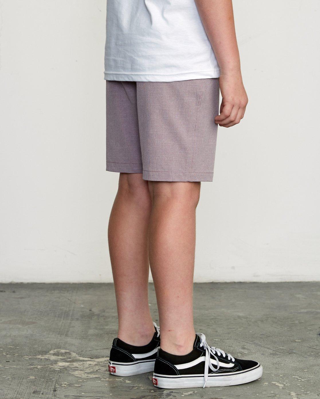 5 Boy's Balance Hybrid Short Purple B201NRBH RVCA