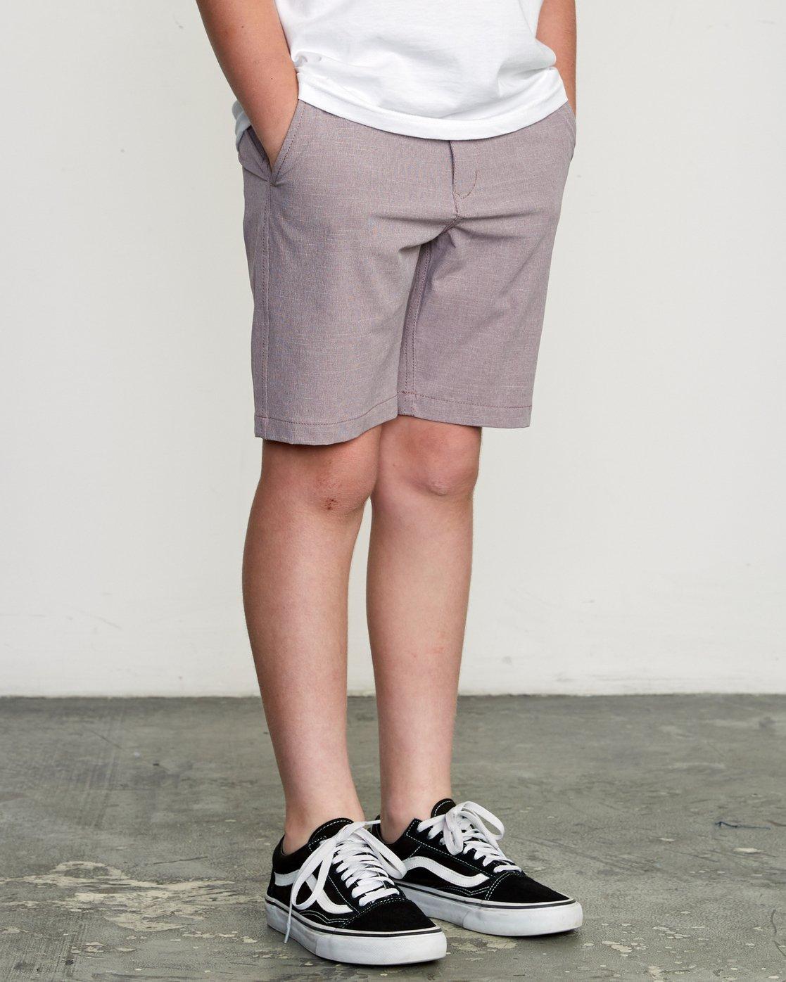 6 Boy's Balance Hybrid Short Purple B201NRBH RVCA