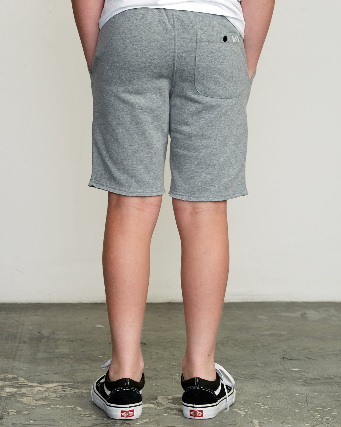 4 Boy's Ripper Fleece Sweatshort Grey B201URRI RVCA