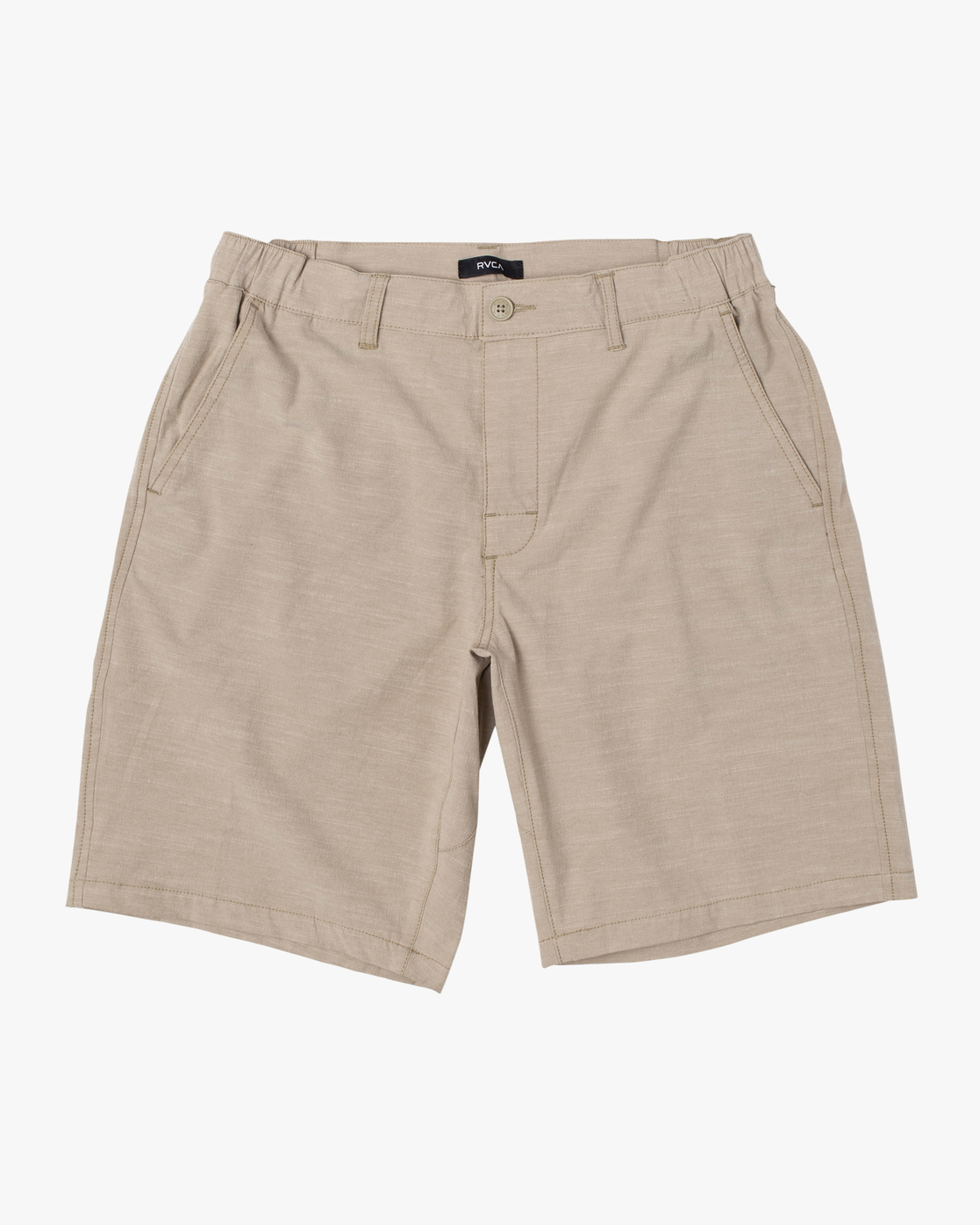 "0 BOYS ALL TIME COASTAL SOLID HYBRID SHORT 17"" Beige B206QRCO RVCA"