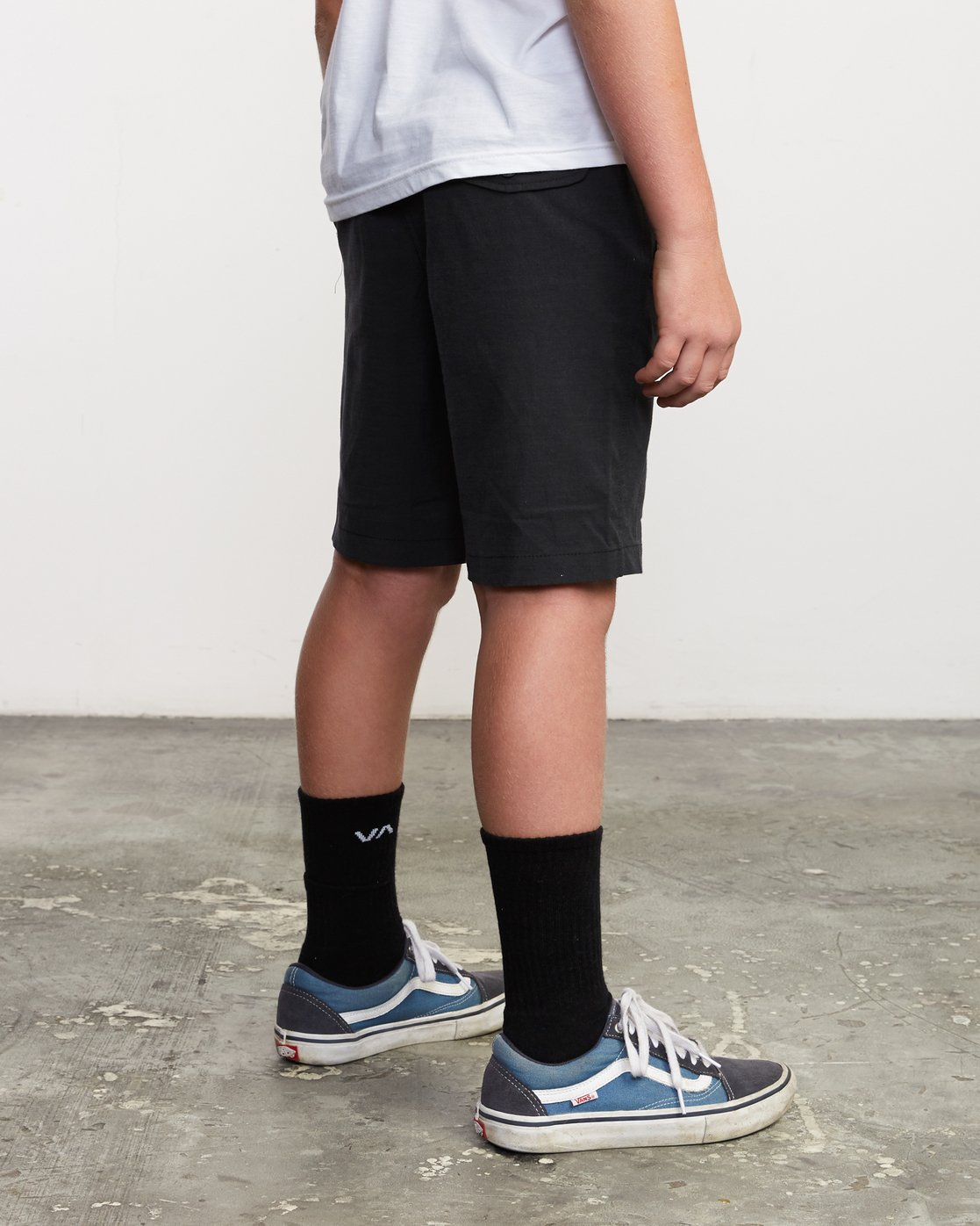 5 Boy's All Time Coastal Hybrid Short  Black B206QRCO RVCA