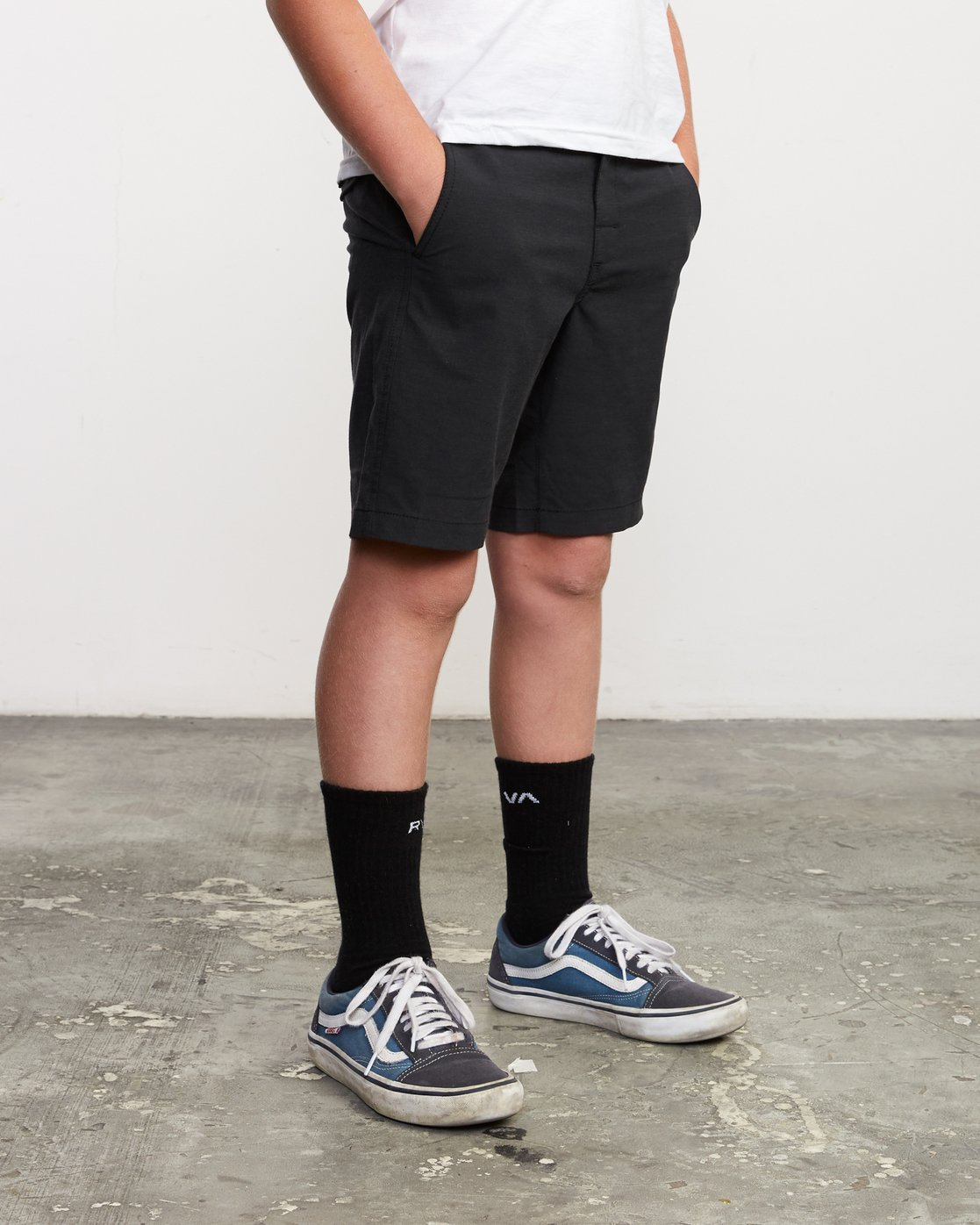 6 Boy's All Time Coastal Hybrid Short  Black B206QRCO RVCA