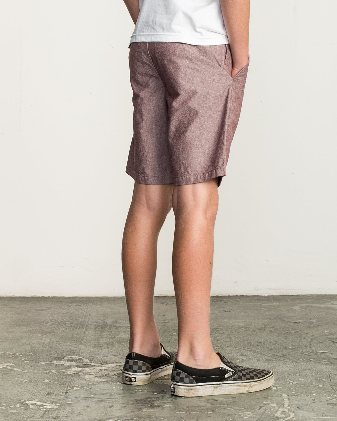 5 Boy's That'll Walk Oxford Short Red B210TRTW RVCA