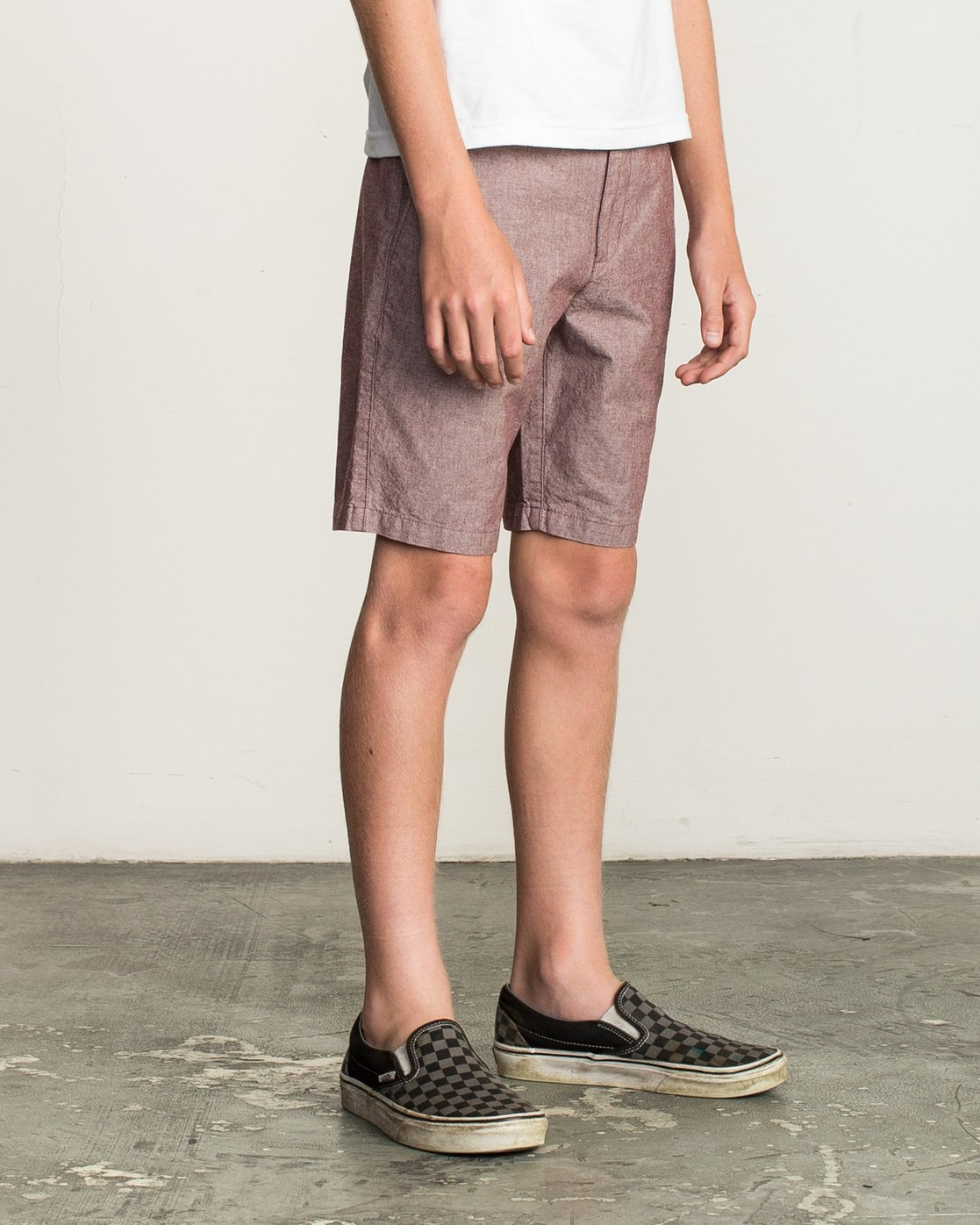 6 Boy's That'll Walk Oxford Short Red B210TRTW RVCA