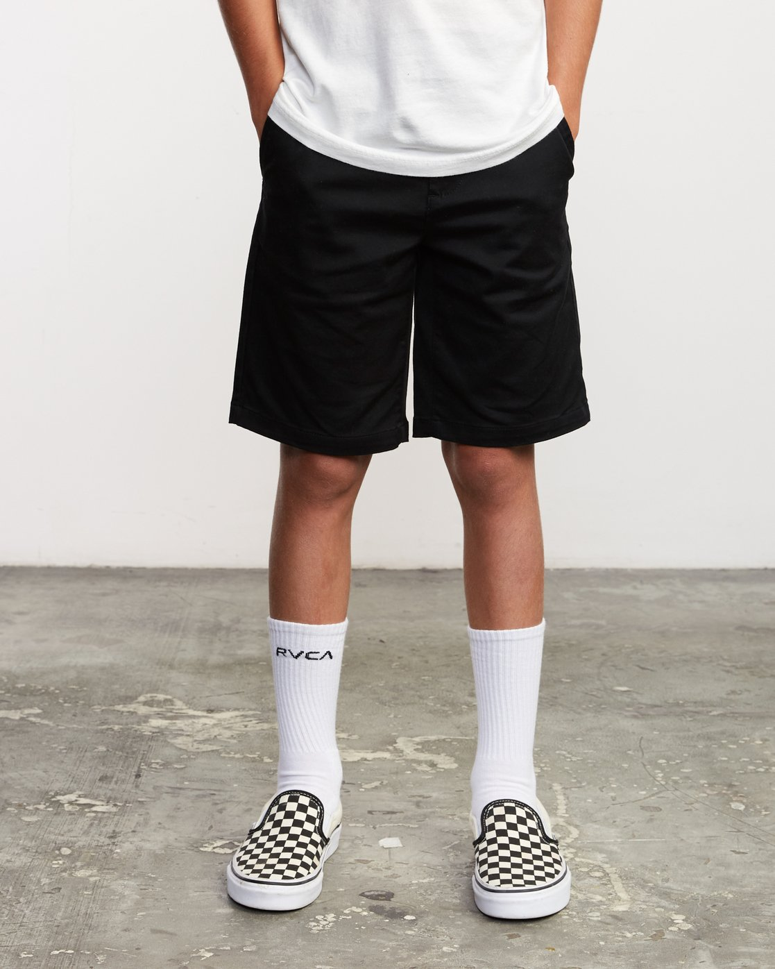 2 Boys Weekday Stretch Short Black B240TRWD RVCA