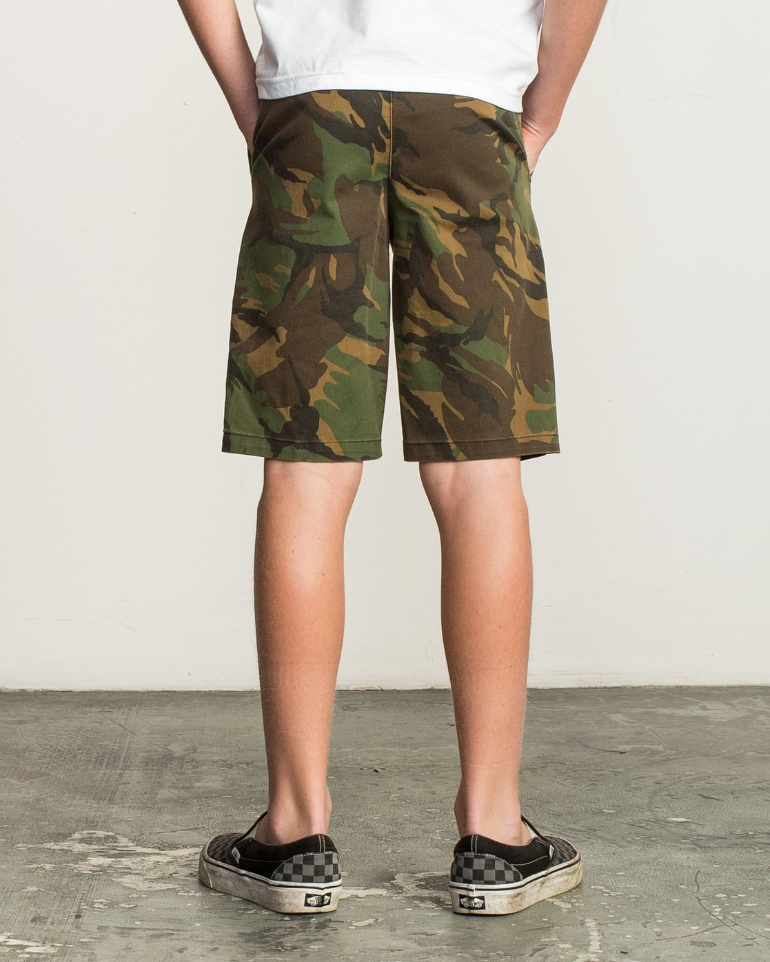 4 Boy's Weekday Stretch Short Camo B240TRWD RVCA
