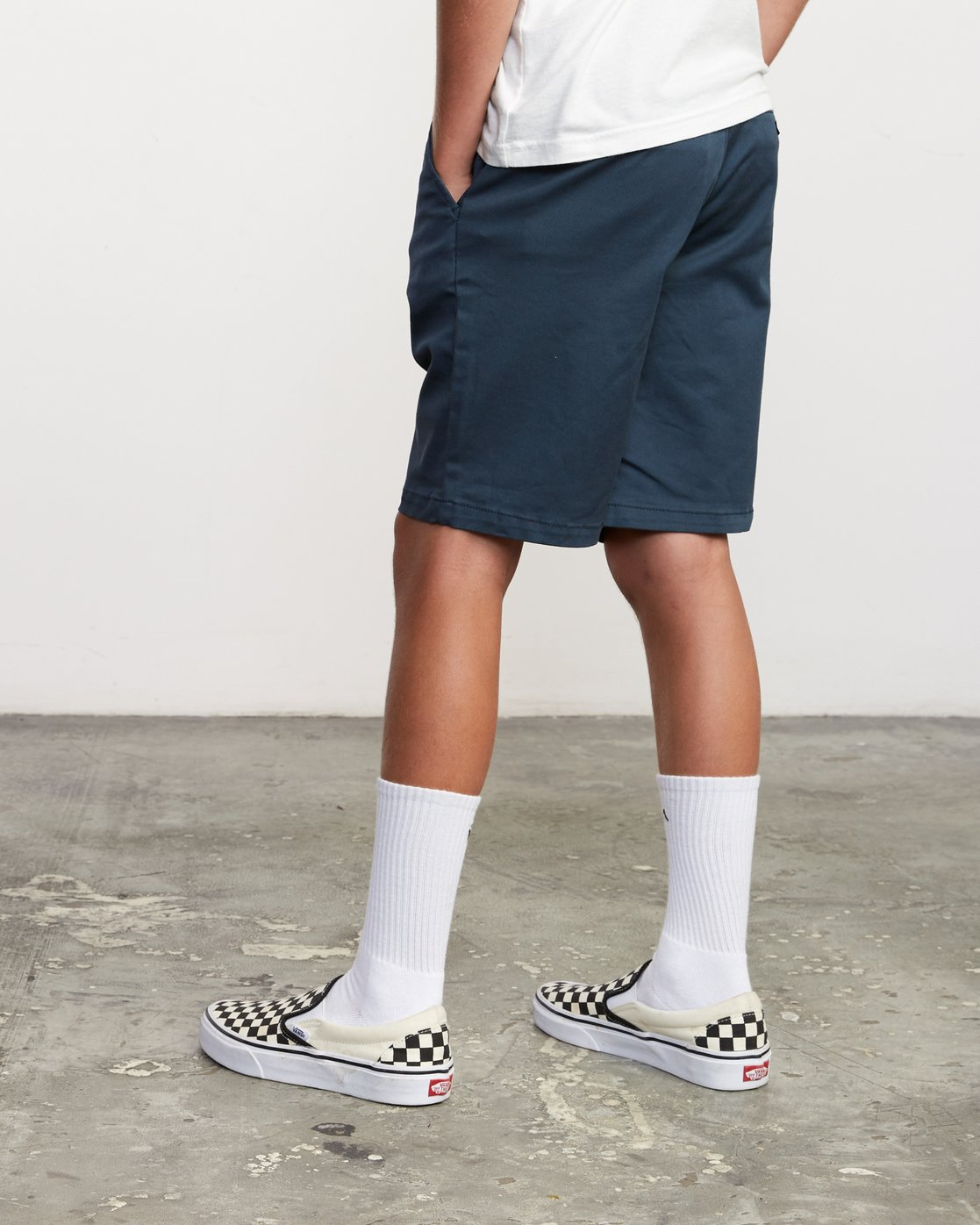 4 Boys Weekday Stretch Short Blue B240TRWD RVCA